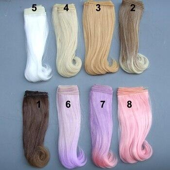 1 piece 15cm length curly doll wig 1/3 /1/4 1/6 bjd curly BJD wigs SD doll hair 1