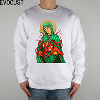 The Virgin Octopus sci fi Religious Weird MadSquidPaint men Sweatshirts Thick Combed Cotton
