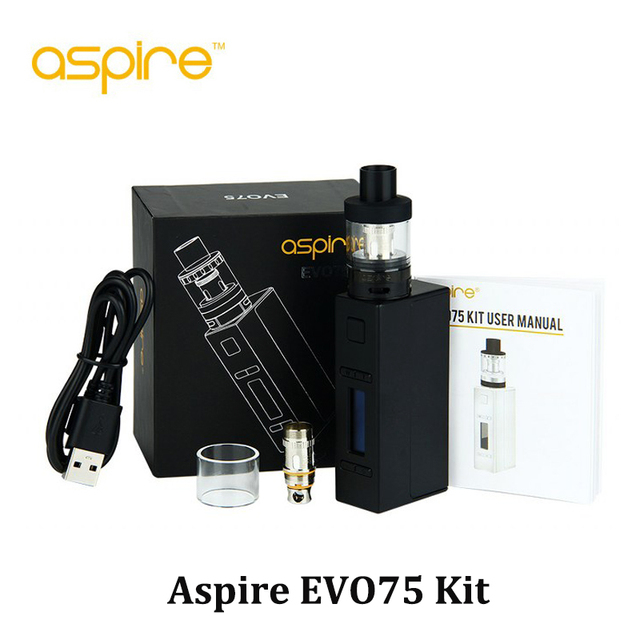Original Aspire EVO 75w kit with NX75 mod  updated EVO tank kit Vape Vaporizer E Sigaret VS Aspire Odyssey mini Kit (MM)
