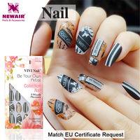 Rock Style Ballerinas Fake Nails Coffin False Tips Artificial Nail Art Manicure Accessories Women