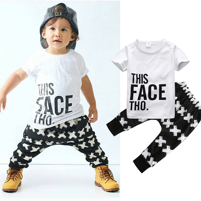 c7faeb3c1cc3 Boy Clothes Short Sleeve White T shirt + Pants Outfit Toddler Boys Clothing  Children Sport Suits Summer Kids Clothes-in Clothing Sets from Mother   Kids  on ...