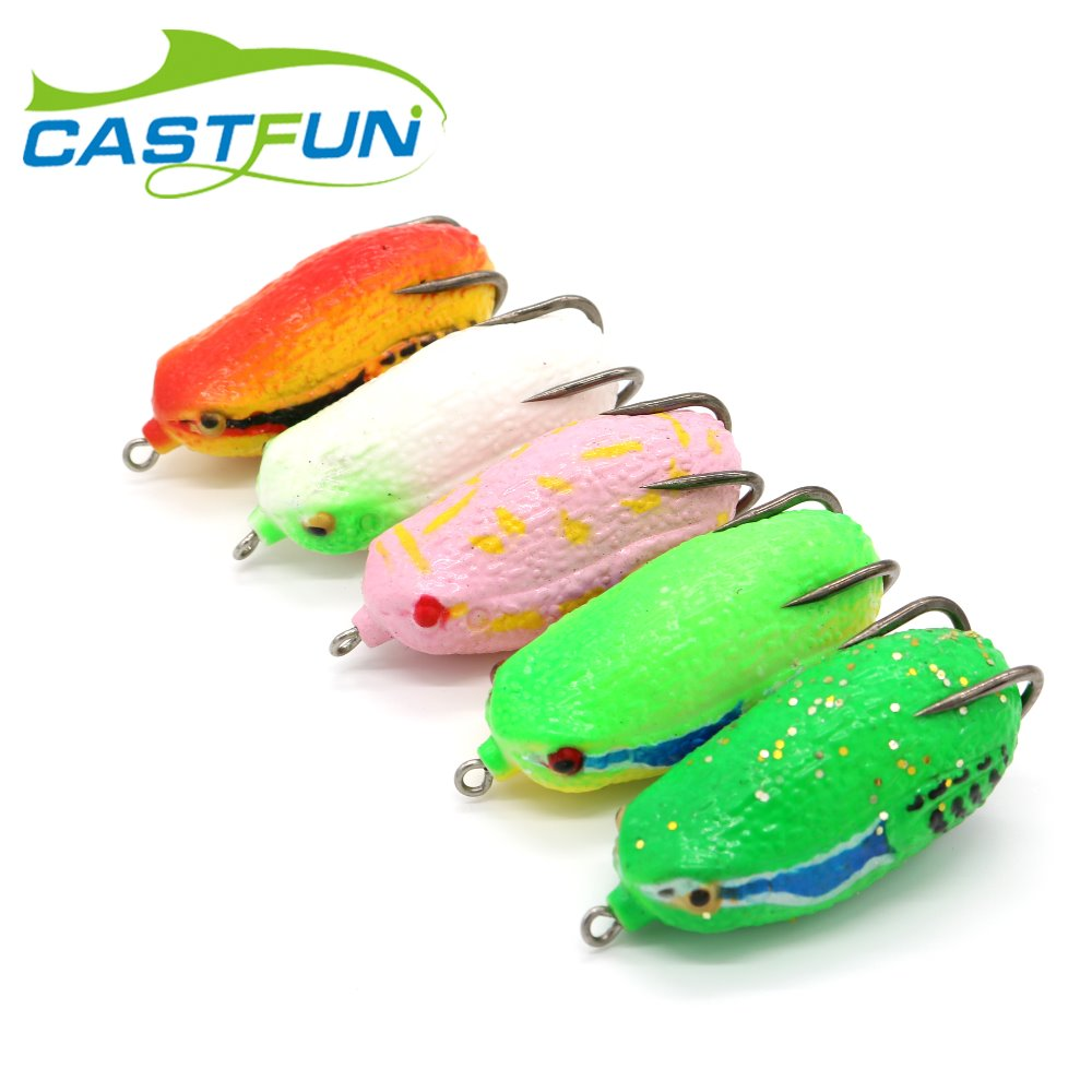 Free Shipping 5pcs/lot Soft Plastic Frog Lure Topwater Snakehead Lure Frog Lure Fishing Soft Bass Lure 26g 6.8cm frog lure m