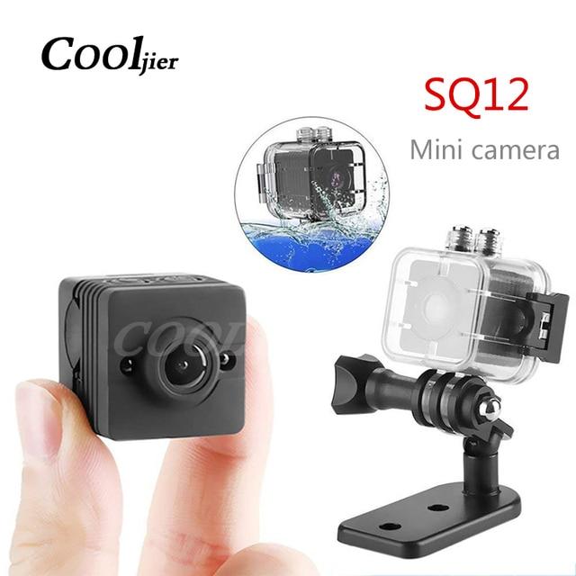 COOLJIER كاميرا صغيرة SQ12 الاستشعار للرؤية الليلية كاميرا الحركة DVR HD 1080P كاميرا دقيقة DV الرياضة فيديو كاميرا صغيرة صغيرة SQ 12