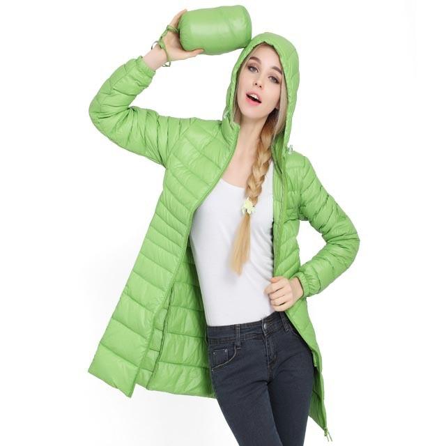 מוצר - Winter jacket Woman Outerwear Slim Hooded Down ...