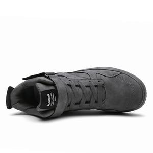 Image 4 - חדש ילד של ספורט מזדמן ריצה ללבוש נעלי תחרה עד נוח נעל רך קל משקל בלעדי רטרו עור גברים אופנה מגמה חורף