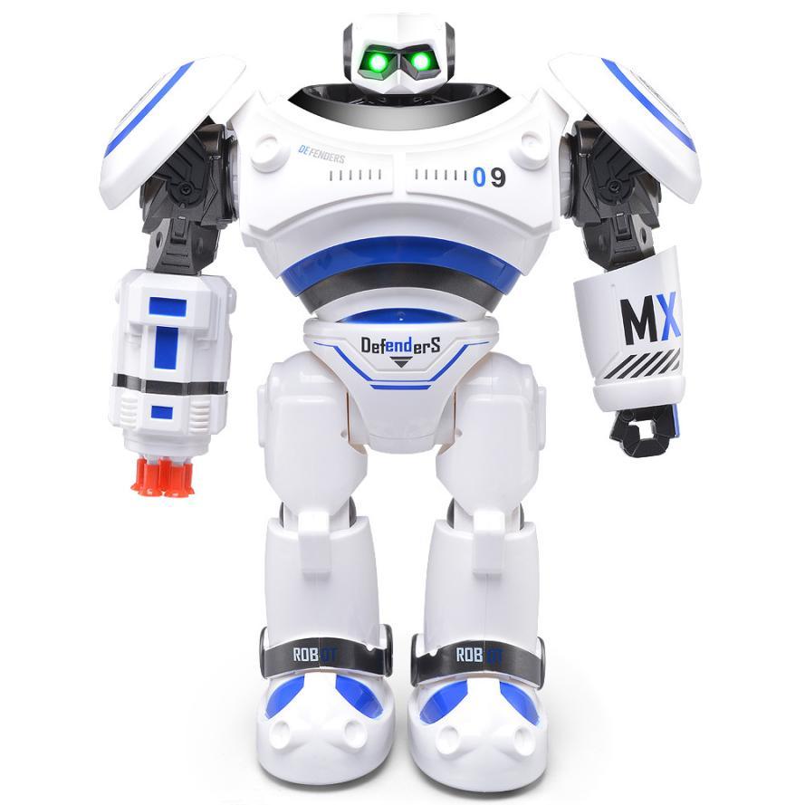 RC Robot 2017 JJRC R1 Intelligent Programmable Walking Dancing Combat Defenders RC Robot Educational toys D50 intelligent wireless remote control robot dog kids dancing walking dog