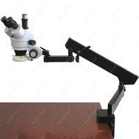 Trinocular Articulating Zoom Microscope--AmScope Supplies 3.5X-90X Trinocular Articulating Zoom Microscope + Ring Light