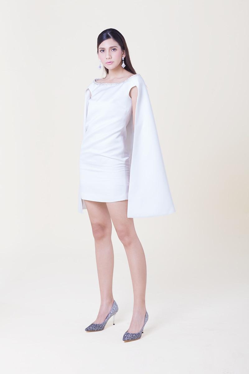 419f4ac1f PLAYCOLOR Blanco Cortos Vestidos de Coctel de Las Mujeres Vestidos de Capa  para Chicas Del Club de Vestidos de Cóctel Tamaño Del Enchufe Custom ...