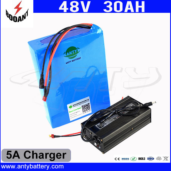 Hot Sale 1800W Scooter Battery 48V 30AH Electric Bike Battery 48V With 18650 Cell with 5A Charger 50A BMS Lithium Battery 48V diy 48v 1000w samsung cell electric bike lithium battery 48v 30ah li ion 18650 battery with 30a bms for e bike battery