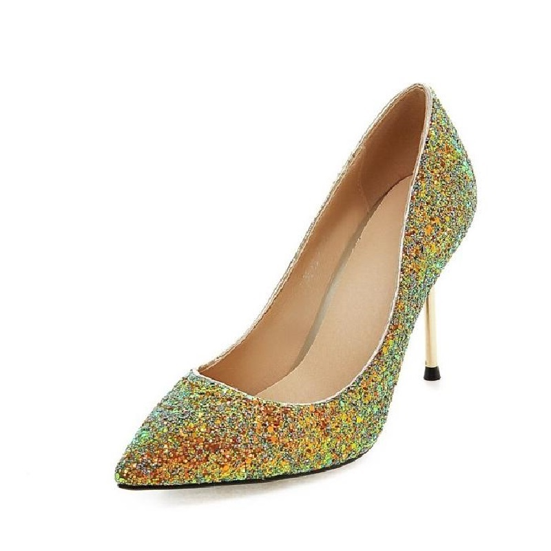 Fashion Brand Sexy Womens Rhinestone Pointed Toe Party Wedding Shoes Stilettos High Heel Pumps For Women Black Pink Shoes 11.5 new spring autumn women shoes pointed toe high quality brand fashion ol dress womens flats ladies shoes black blue pink gray