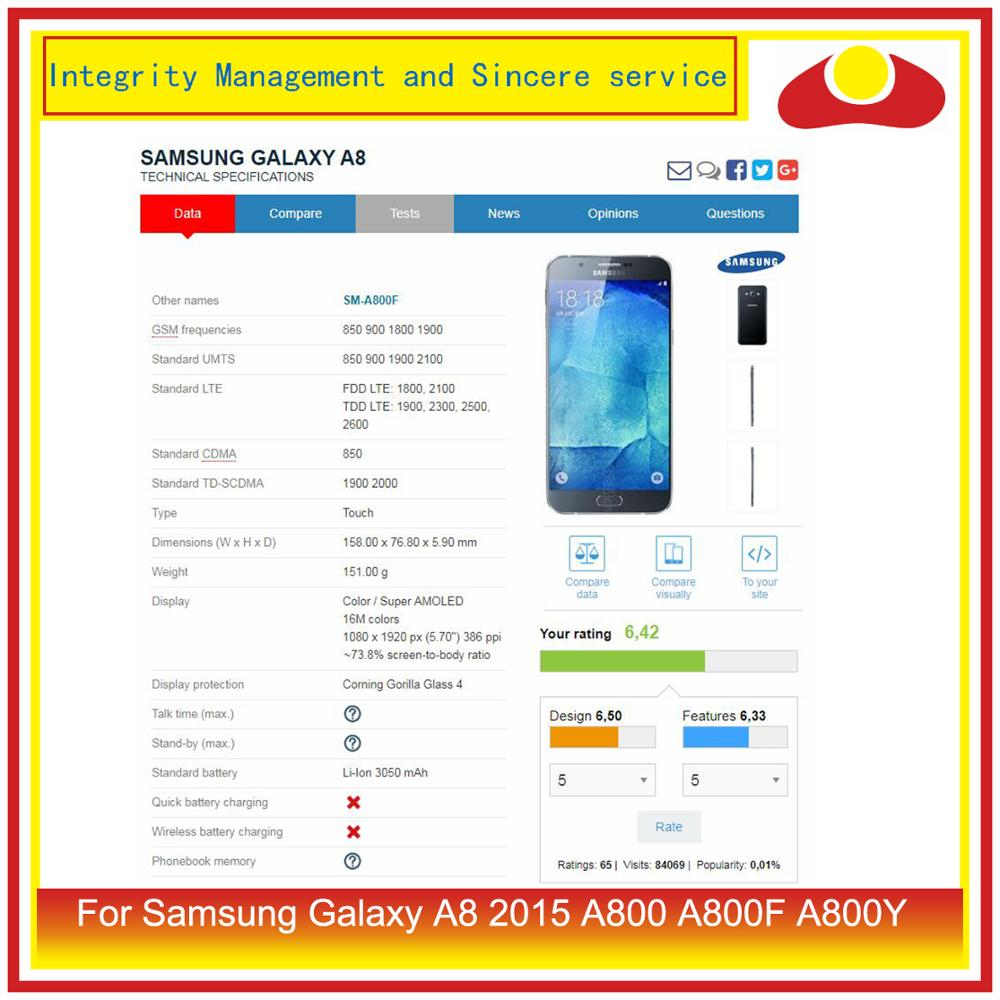 Image 3 - 10Pcs/lot For Samsung Galaxy A8 2015 A800 A8000 A800F SM A800F LCD Display With Touch Screen Digitizer Panel Pantalla Complete-in Mobile Phone LCD Screens from Cellphones & Telecommunications