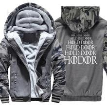 Game of Thrones HODOR Print fashion men hoodies funny 2019 winter sweatshirts Mens tracksuit hoody Hipster Hip Hop