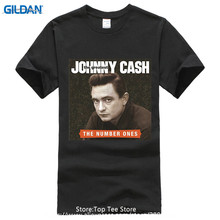 2017 New Fashion Brand Clothing Design O-Neck  Johnny Cash The Short-Sleeve Mens T Shirts