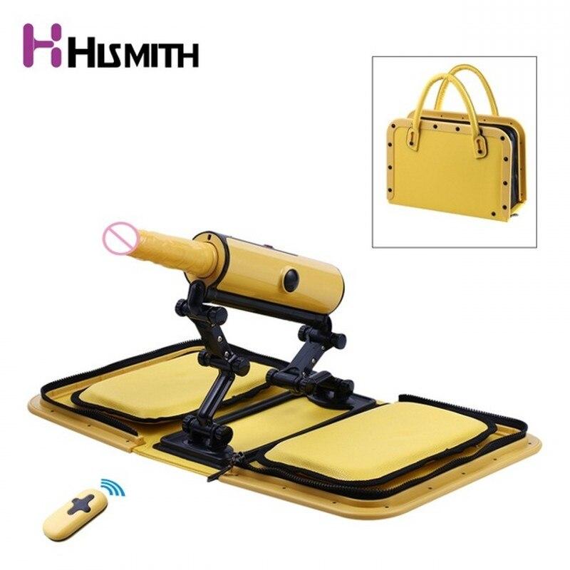 Machine de sexe de sac à main Portable HISMITH avec la mitrailleuse automatique d'amour de télécommande de bluetooth, Machines de sexe pour des femmes