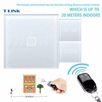 TLINK EU Standard Minitiger Remote Control Switch 1 Gang 1 Way Wall Switch Wireless Remote Control