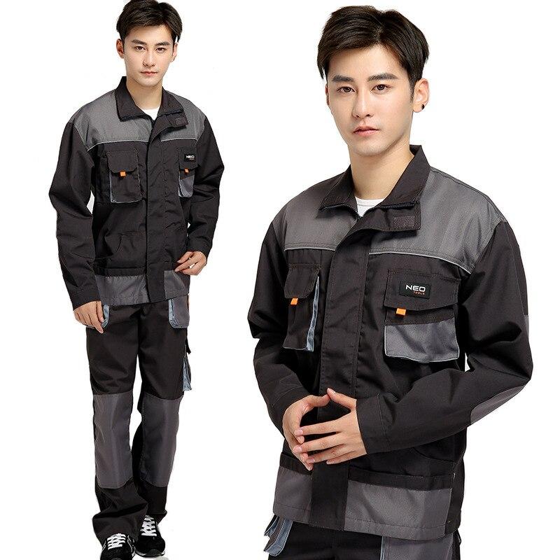 imágenes para Mens clothing overoles de manga larga de alta calidad trajes de trabajo trabajador técnico máquina de reparación de automóviles de soldadura eléctrica de absentismo