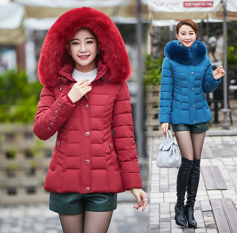 Short Ladies down coat Thick Winter Maternity Clothes Warm Maternity women jacket with big fur hood Plus Size Big Size XL-5XL