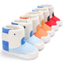 Winter men and women baby thick warm snow boots color matching baby toddler shoes C-392(China)