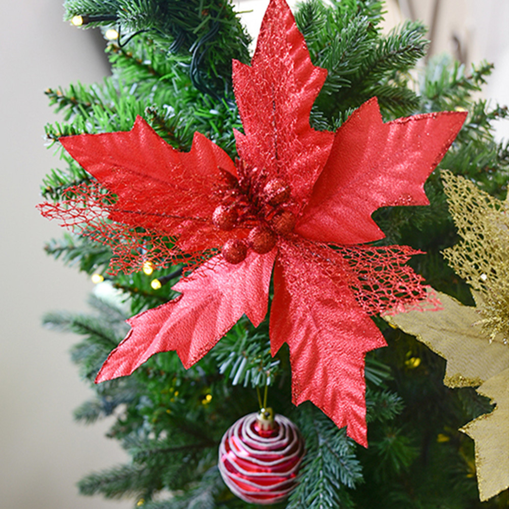 Christmas Tree Ornament Christmas Ornament Bowknot Artificial flowers Supplie Christmas Decoration For Home Christmas Ornaments