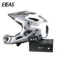 TTS Motorcycle Helmet Bluetooth Interphone Headset Wireless Intercom 6 Riders Intercomunicador Headset 1200M BT Interphone