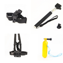 For Gopro Equipment Monopod For Gopro Float Bobber Chest Belt Set For Go professional Monopod For Xiaomi yi Equipment
