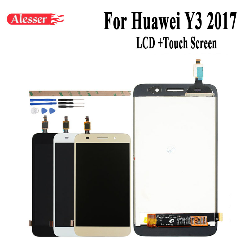 US $12 99 |Alesser For Huawei Y3 2017 LCD Display and Touch Screen Assembly  5 0''Replacement Phone Accessories+Tool +Adhesive For Huawei Y3-in Mobile