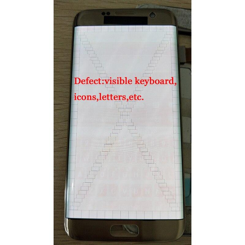 SUPER AMOLED 5.5 ''grand écran LCD ombre à feu pour Samsung Galaxy S7 écran de bord avec cadre G935F G935FD écran numériseur