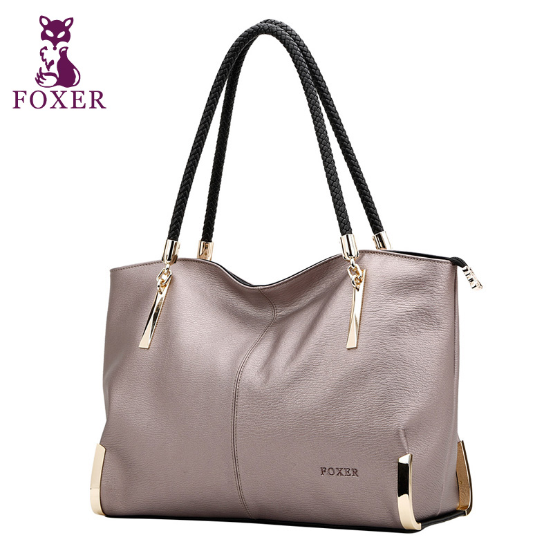FOXER women luxury handbag new High quality leather handbags women shoulder bags fashion tote bag ladies hand bag famous brands цена 2017