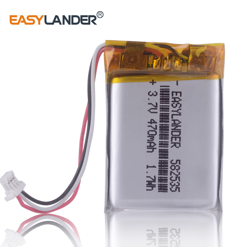 582535 602535 3.7V 470mAh Li-Polymer Battery For SP5  Papago DVR MiVue 366 368 358 358P 658P HP F210 HP F310 WP7 A5 Neoline V50