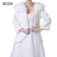 2018 Winter Faux Fur Jacket Wrap Shrug Bolero Coat Wraps Shawl Cape Bridal Wedding Shawl Bridal Accessories In Stock