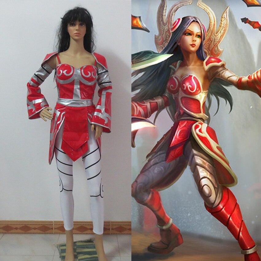 LoL Irelia Red Halloween Set Cosplay Costume