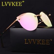 LVVKEE 2018 Brand Designer Polarized Sunglasses rimless Women's Glasses Metal Frame Steampunk Anti hot Glare Goggles uv400