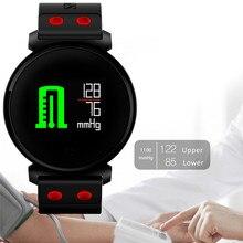 Meilleur montre intelligente capteur de coeur optique HR Fitness activité Tracker montre pression artérielle IP68 professionnel brassard étanche
