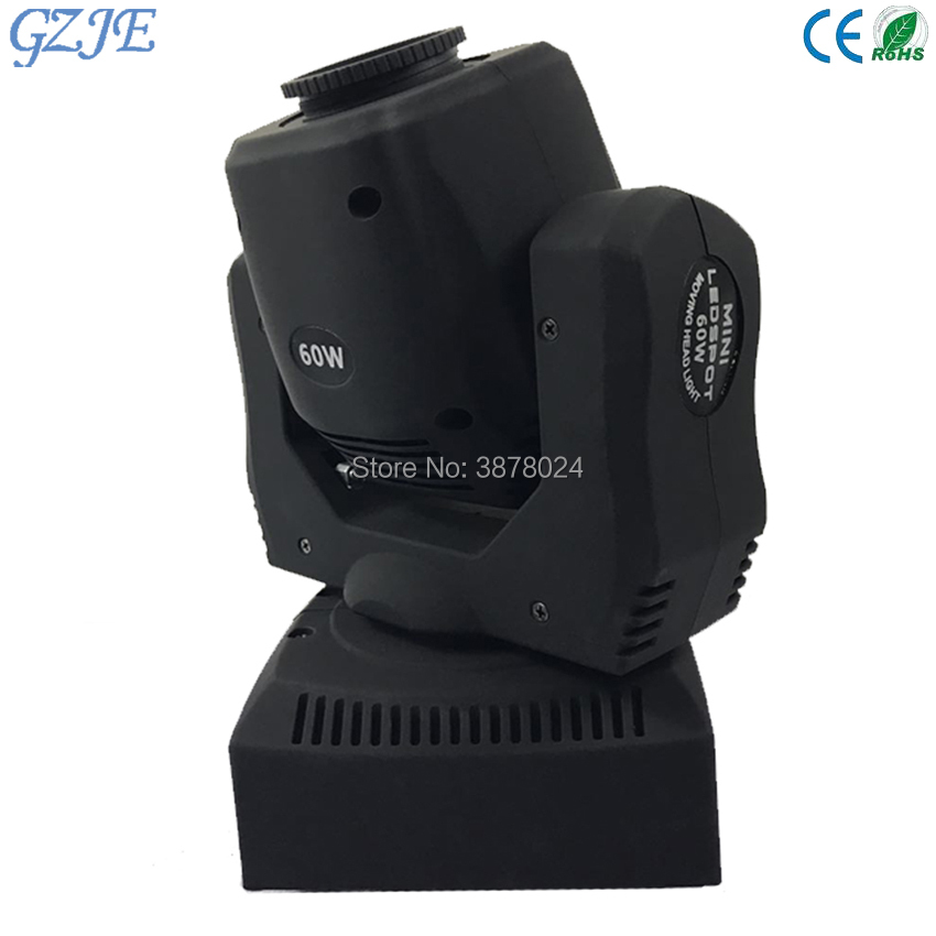 Free Shipping 60W Mini LED DMX gobo Moving Head Spot Light Club DJ Stage Lighting Party Disco Moving heads Light 8pcs lot free shipping best lighting led moving head spot led 90w moving heads factory price