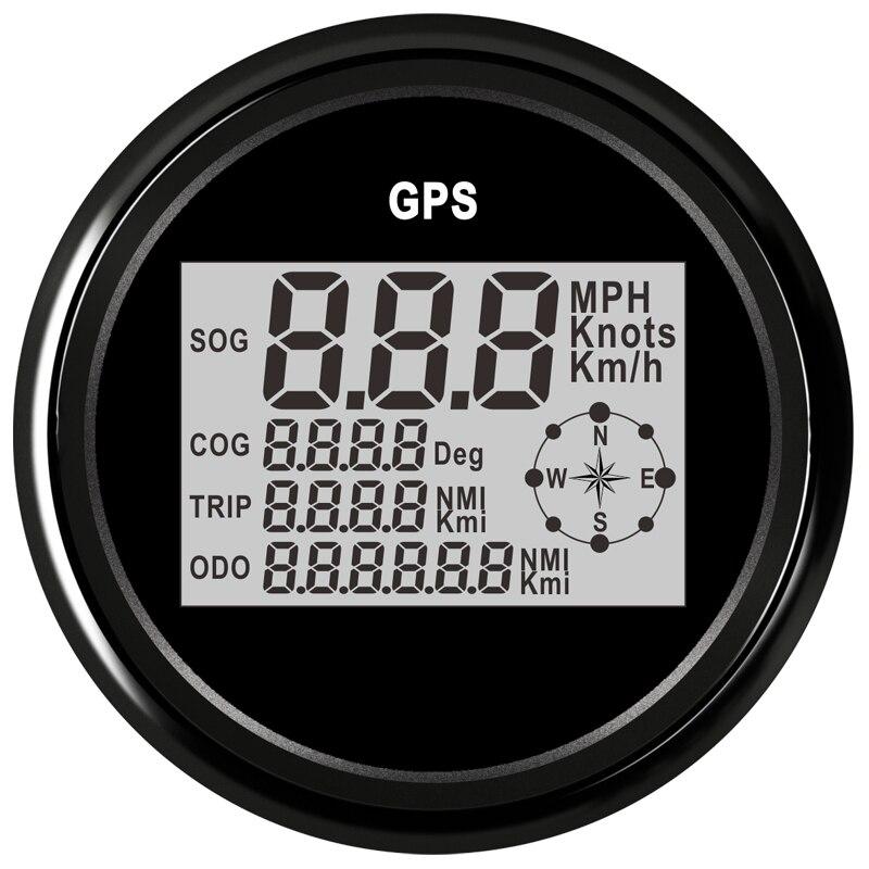 85 milímetros Barco Carro GPS Odômetro Velocímetro Digital 0-999 Nós kmh mph Para O Barco Do Caminhão Do Carro Com Luz de Fundo 3-3/8''