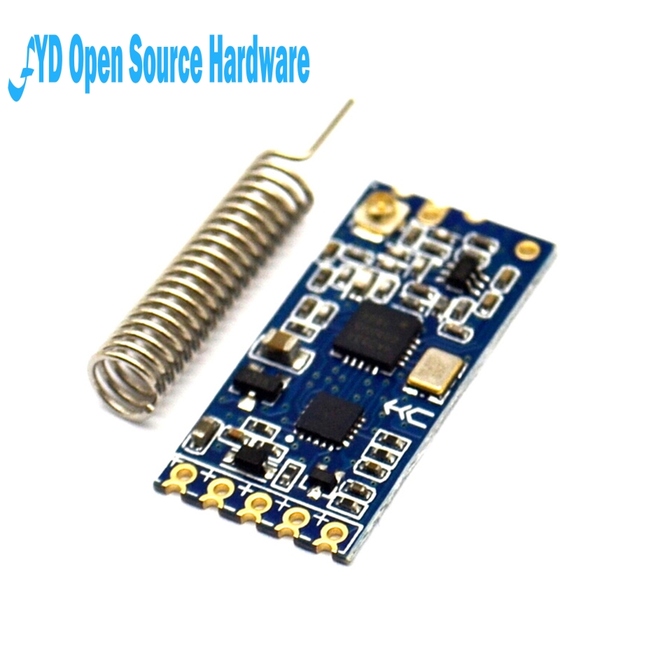 1pcs 433Mhz HC-12 SI4463 Wireless Serial Port Module 1000m Replace Bluetooth