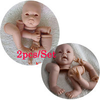 2PCS Wholesale DIY Model Doll Kit Accessories Fashion Silicone Reborn Doll Babies Kits For 21inch Baby