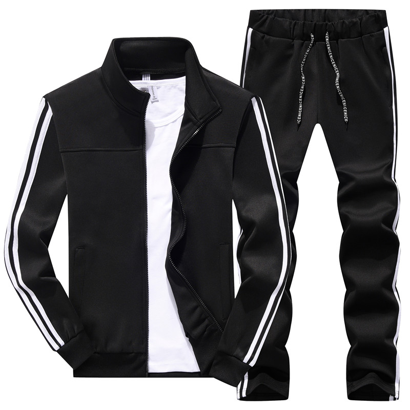 Men's Sportswear Sets New Spring Autumn Man 2 Piece Set Sporting Suit Jacket+Pant Sweatsuit Male Tracksuit Asia Size M-4XL