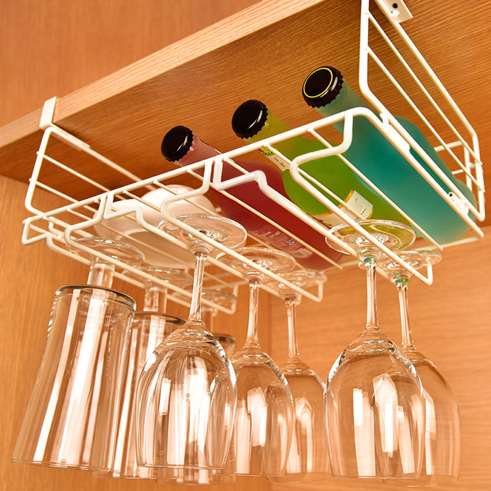 Wine Glass Hangers Under Cabinet Popular Wine Holder With Glass Hook Buy Cheap Wine Holder With