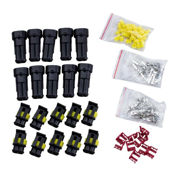 Promotion! 10 Kit 2 Pin Way Waterproof Electrical Wire Connector Plug smc type mxh16 5 pneumatic slider linear guide slide cylinder mxh16 5