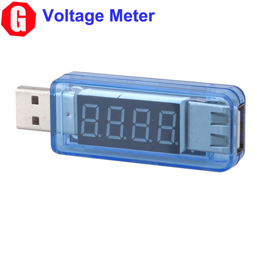 Free Shipping! KW202 MiNi Digital Portable USB Power Current Voltage Tester Car Charger Detector Test Meter For PC Mobile Phone