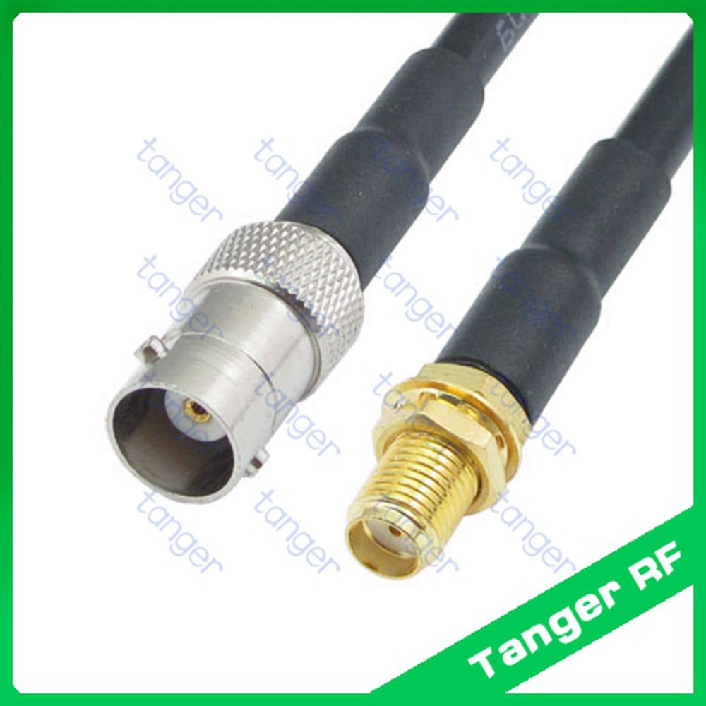 все цены на Hot sale Tanger BNC female jack to SMA female jack straight RF RG58 Pigtail Jumper Coaxial Cable 3Feet 100cm High Quality New