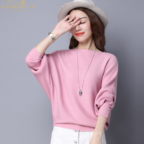 Pure Color Womans Sweater Knitted Korean Style Women Pullover Casual Ladies Thin Sweaters Womens Tops And Blouses Clothing 3