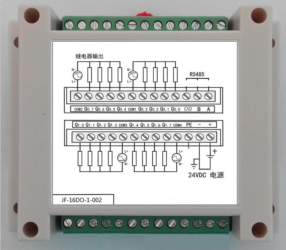 16DO 16-way Relay Output Module Isolates 485 Standard MODBUS-RTU Industrial Control Module16DO 16-way Relay Output Module Isolates 485 Standard MODBUS-RTU Industrial Control Module