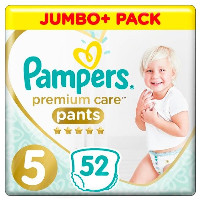 Трусики Pampers Premium Care 12-17 кг, размер 5, 52 шт.