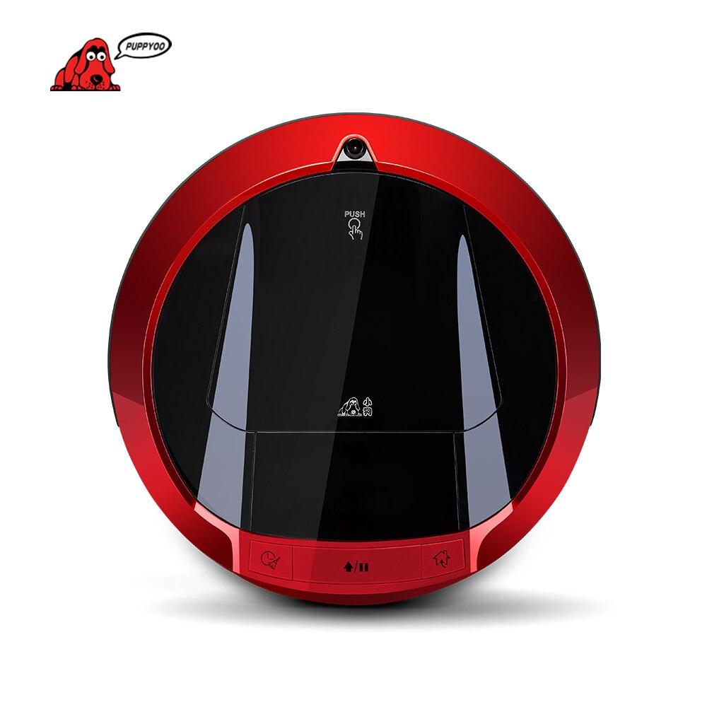 PUPPYOO Multifunzionale Robot Aspirapolvere Auto-Carica Spazzata Casa Collettore di Aspirazione di Tocco Schermo A LED Spazzole Laterali V-M900R