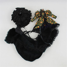 """בגדי בובה, כהה elemental סגנון, חליפת כולל מקטורן, חצאית, כובע, עבור 1/6 30 ס""""מ בובה, גוף נורמלי"""