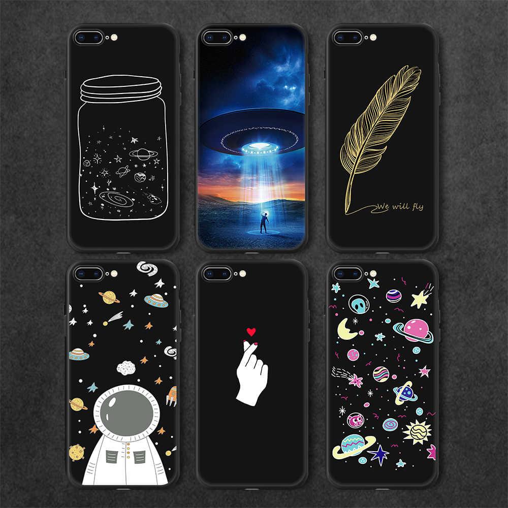シンプルな手紙柄物マット TPU ケース iphone XR 8 6 s 6 プラス漫画塗装カバー iphone X XS 最大 5 s SE 5 7 プラス
