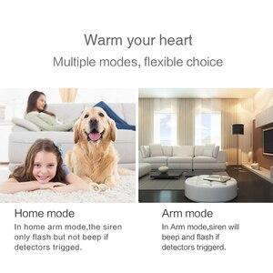 Image 3 - Tuya inteligente wi fi sistema de alarme segurança em casa 433mhz sem fio sirene estroboscópica alarme compatível com alexa google início tuya app