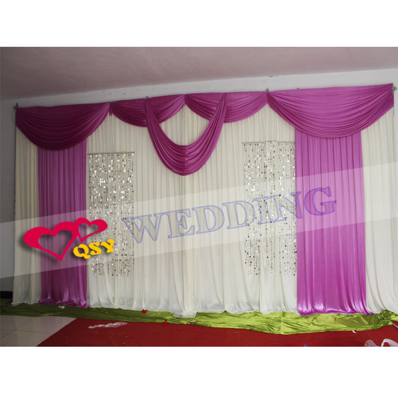 hot sale wedding backdrop curtain for sale ice silk fabric backdrop wedding curtain 3 6 m. Black Bedroom Furniture Sets. Home Design Ideas